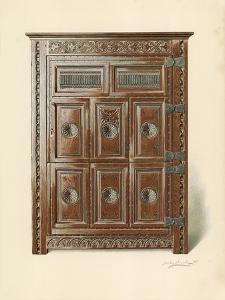 Oak Cupboard by Shirley Charles Llewellyn Slocombe