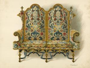 Settee, the Property of the Duke of Leeds by Shirley Charles Llewellyn Slocombe
