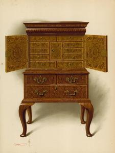 Walnut Cabinet, Property of Edward Dent by Shirley Charles Llewellyn Slocombe