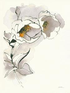 Carols Roses II Taupe by Shirley Novak