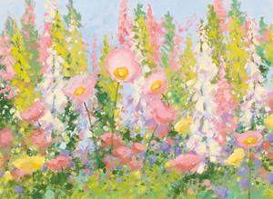 Garden Pastels I Blue Sky by Shirley Novak