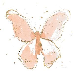 Gilded Butterflies II Blush by Shirley Novak
