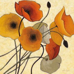 Pumpkin Poppies II by Shirley Novak