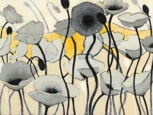 Snow Day Gray Flower by Shirley Novak