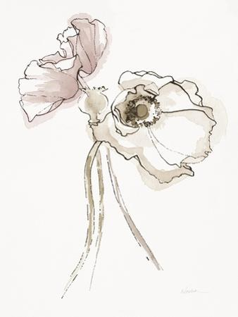 Three Somniferums Poppies Neutral II by Shirley Novak