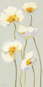 White on White Poppies Panel II by Shirley Novak