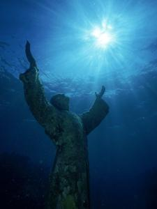 Christ of the Abyss Statue, Pennekamp State Park, FL by Shirley Vanderbilt