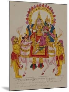 Shiva and Parvati on the Bull Nandi, India