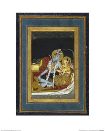 Shiva and Parvati Seated on a Terrace