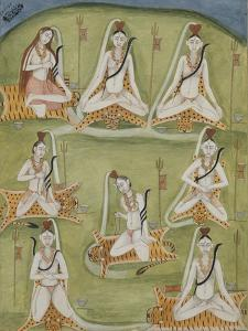 Shiva in Eight Yogic Postures, India