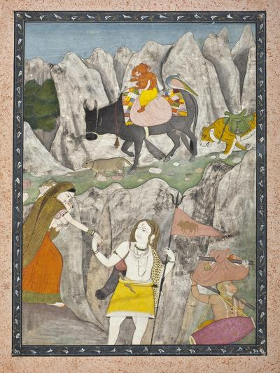 Shiva's Family on the March--Art Print