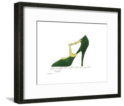 Shoe Bright, Shoe Light, First Shoe I've Seen Tonight, 1955-Andy Warhol-Framed Art Print