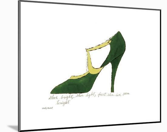 Shoe Bright, Shoe Light, First Shoe I've Seen Tonight, 1955-Andy Warhol-Mounted Art Print
