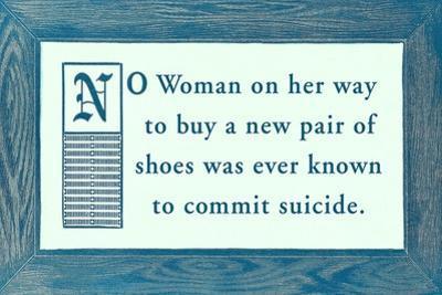Shoe Buying vs. Suicide