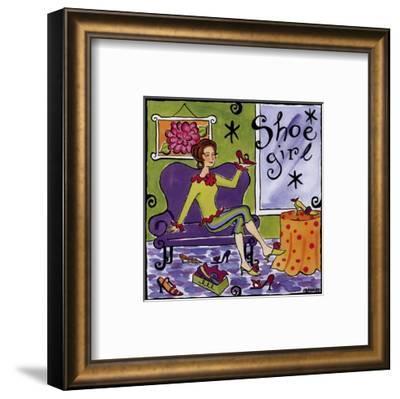 Shoe Girl-Jennifer Brinley-Framed Art Print