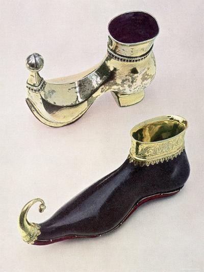 Shoe Shaped Drinking Vessels: Gothic Leather Goblet from 15th Century from Bally Shoe Museum--Photographic Print