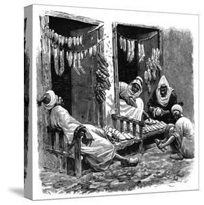 Shoe Shop in Fez, Morocco, C1890