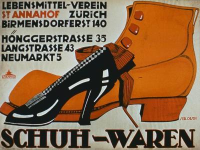 shoe Shops', Zurich-German School-Giclee Print