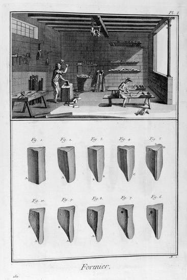 Shoe Tree Makers, 1751-1777-Denis Diderot-Giclee Print