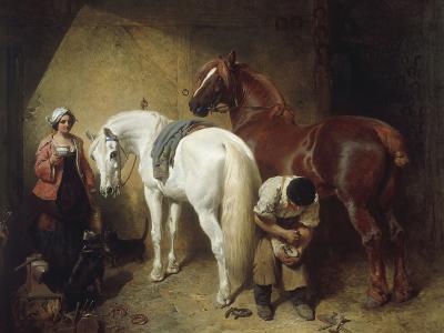Shoeing Imaum, 1856-John Frederick Herring-Giclee Print