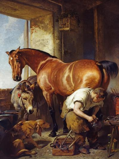 Shoeing-Edwin Henry Landseer-Giclee Print