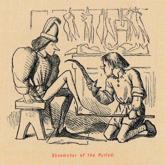 'Shoemaker of the Period',-John Leech-Giclee Print