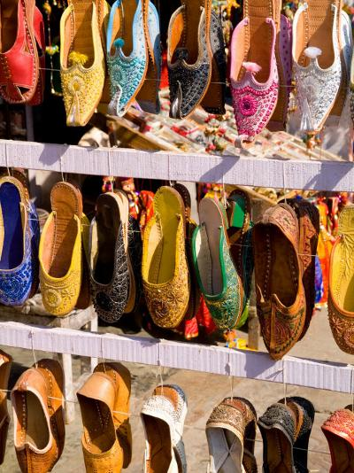 Shoes for Sale in Downtown Center of the Pink City, Jaipur, Rajasthan, India-Bill Bachmann-Photographic Print
