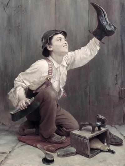 Shoeshine Boy-Karl Witkowski-Giclee Print
