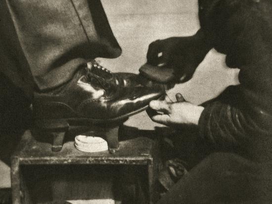 Shoeshine, New York, USA, mid 1930s-Unknown-Photographic Print