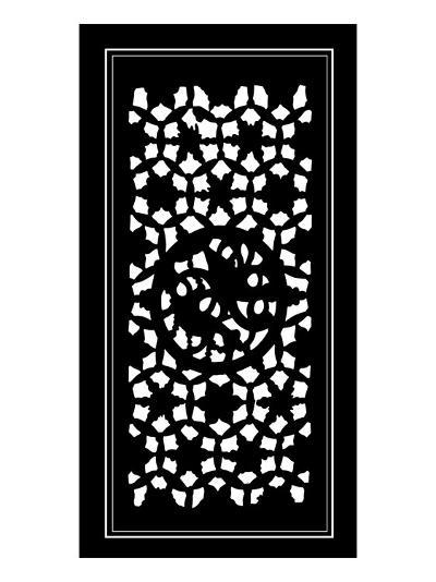 Shoji Screen in Ebony II-Vision Studio-Art Print