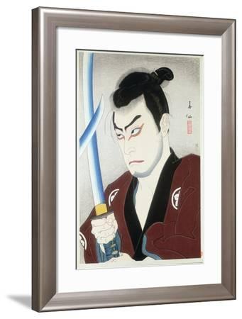 Shojiro with a Sword by Natori Shunsen, 1924--Framed Giclee Print