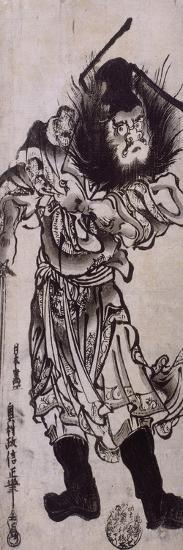 Shôki, le tueur de démon-Okumura Masanobu-Giclee Print
