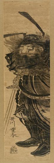 Shoki the Demon Queller, in Sumi, C.1772-81-Utagawa Toyoharu-Giclee Print