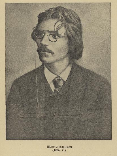 Sholem Aleichem, Russian Yiddish Author and Playwright--Photographic Print
