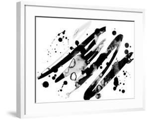 Abstract Ink Grunge Texture Vector on White Background by shooarts