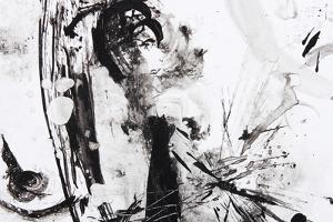 Black And White Abstract Brush Painting by shooarts