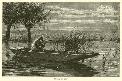 Shooting an Otter--Giclee Print