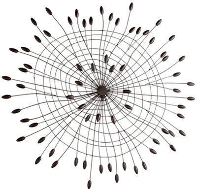"Shooting Buds Spiral Iron Wall Art - 35"""