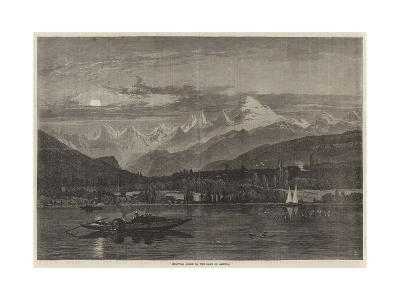 Shooting Grebe on the Lake of Geneva--Giclee Print