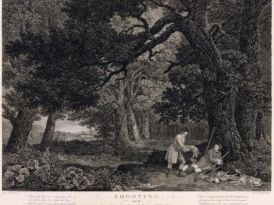 Shooting, Plate 4, Engraved by William Woollett (1735-85) 1771 (Engraving with Etching)-George Stubbs-Giclee Print