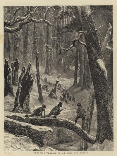 Shooting Turkeys in an American Forest-Arthur Boyd Houghton-Giclee Print