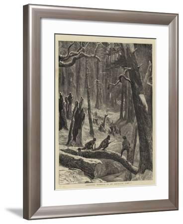 Shooting Turkeys in an American Forest-Arthur Boyd Houghton-Framed Giclee Print
