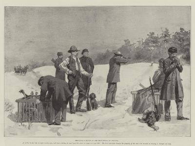 Shooting Turkeys in the Backwoods of Canada--Giclee Print