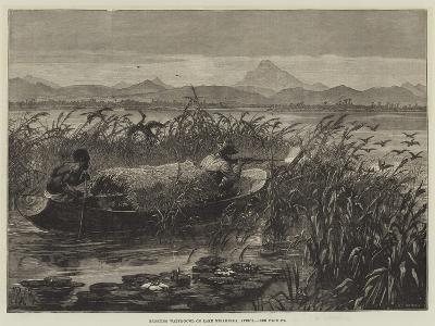 Shooting Water-Fowl on Lake Mirambala, Africa-Johann Nepomuk Schonberg-Giclee Print