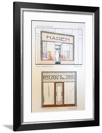 Shop Fronts--Framed Giclee Print