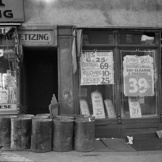 Shop in Washington Avenue, Bronx, New York, 1936-Arthur Rothstein-Photographic Print