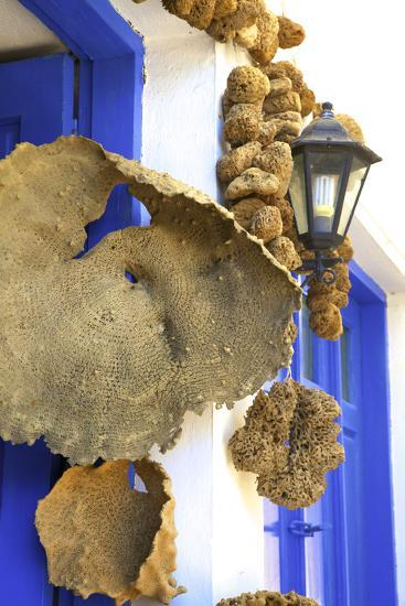 Shop Selling Sponges a Tradition of Kalymnos, Kalymnos, Dodecanese, Greek Islands, Greece, Europe-Neil Farrin-Photographic Print