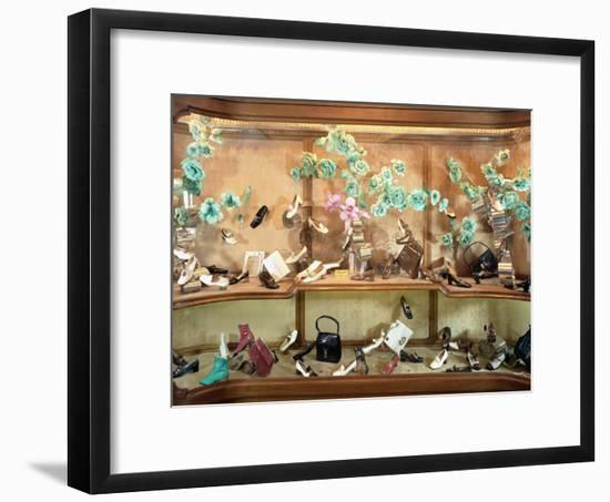 Shop Windown with Footwear and Bags by Beltrami-A. Villani-Framed Photographic Print