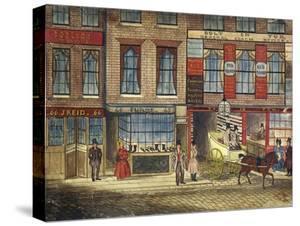 Shops in Fleet Street, London, C1835