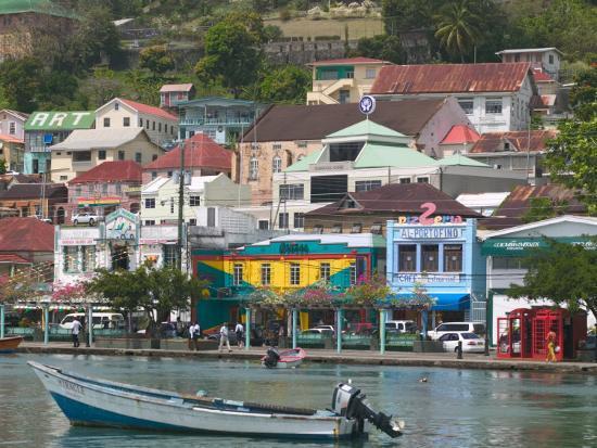 Shops, Restaurants and Wharf Road, The Carenage, Grenada, Caribbean-Walter Bibikow-Photographic Print